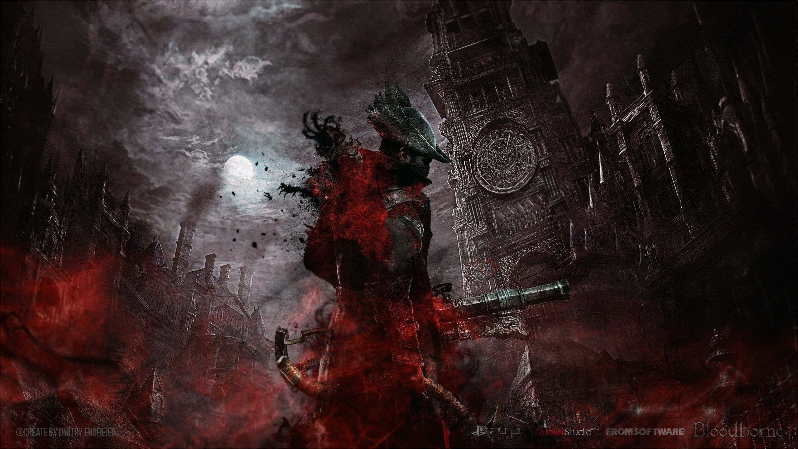 Bloodborne Wallpaper For Iphone And 4k Gaming Wallpapers For Laptop Download Now For Free Artist In 2020 Bloodborne Desktop Wallpapers Backgrounds 4k Gaming Wallpaper