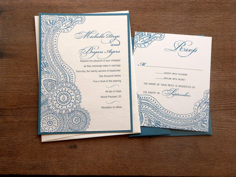 Henna Inspired Layered Wedding Wedding Card Pinterest Hennas