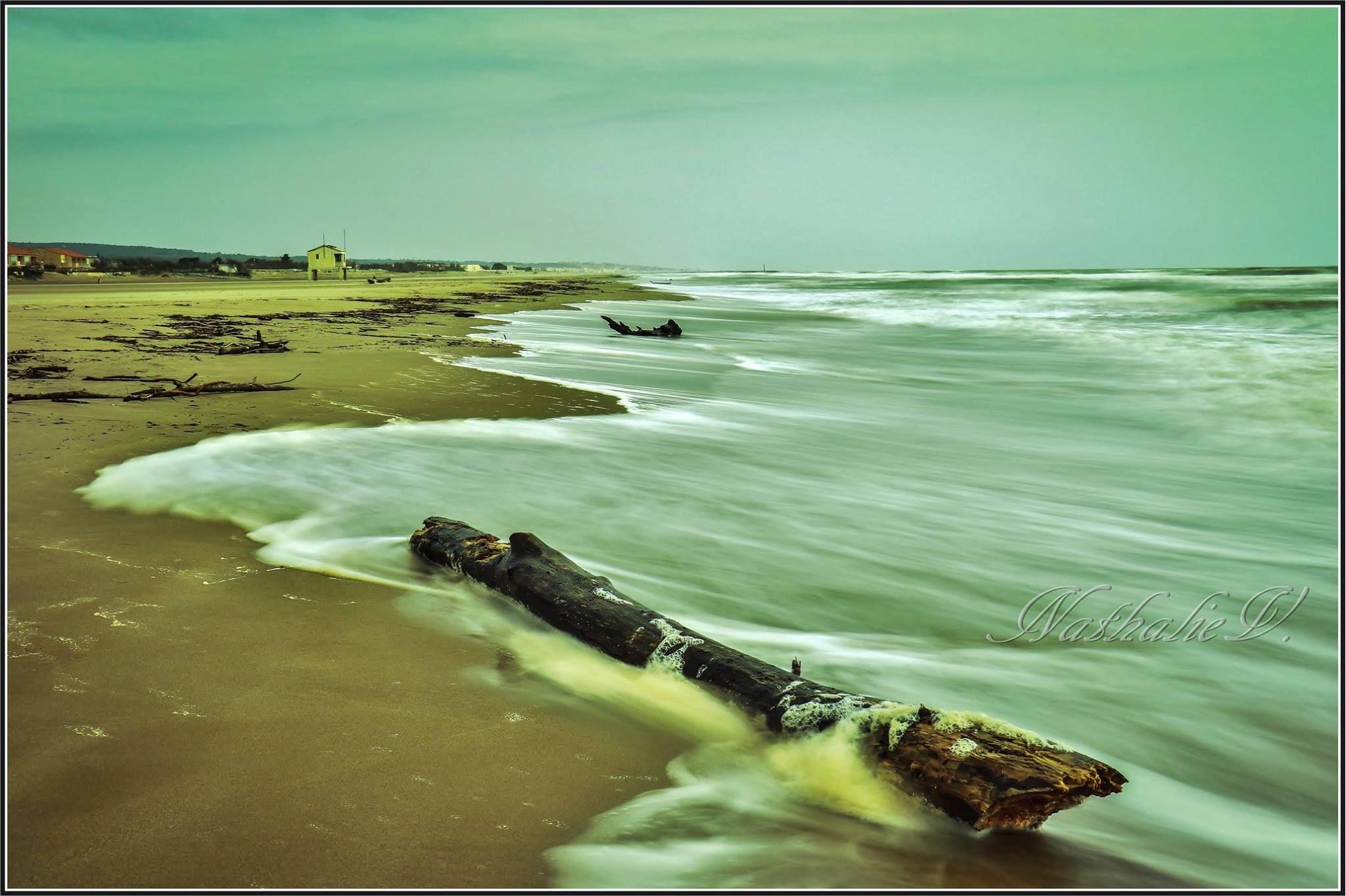 Plage des Ayguades par Nathalie La mer recouvre la plage