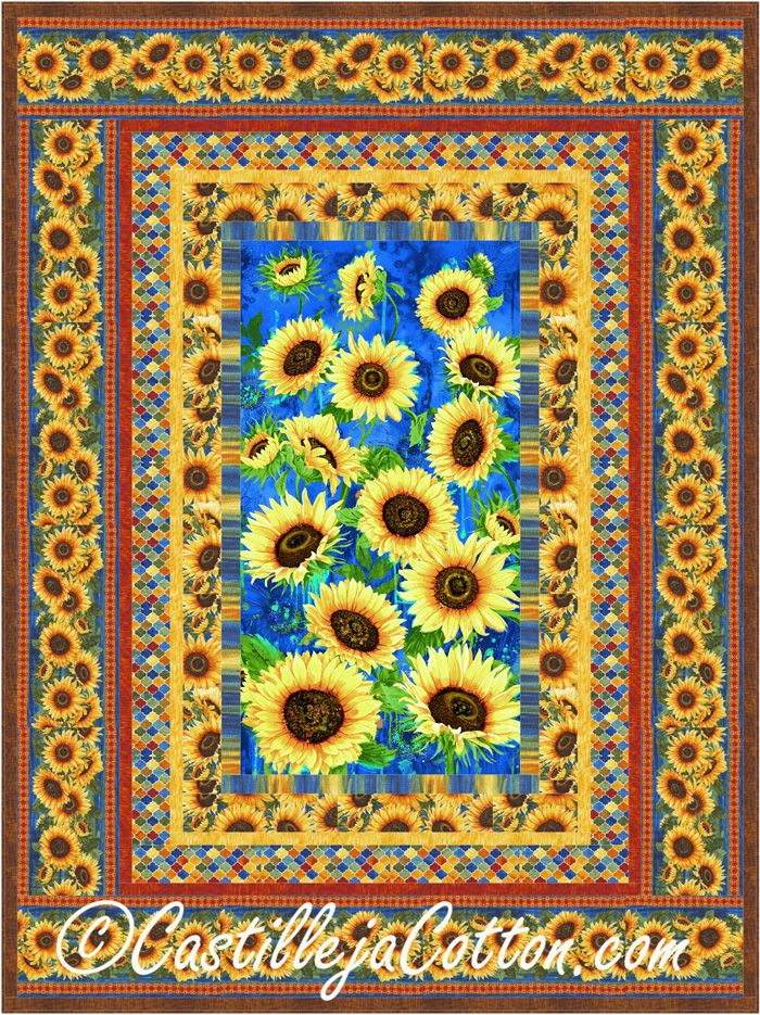 flower paper sherrie piecing tag block sunflower piece number quilts quilt pattern by