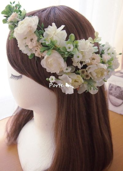 清楚系。。。野の花で作ったような花冠 |Wedding Flower・ぽると のブログ