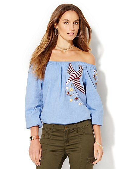 Embroidered Blouse  - New York & Company