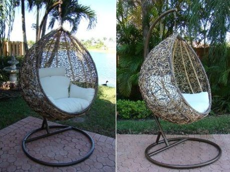 The Trully Outdoor Wicker Swing Chair Furniture Wicker