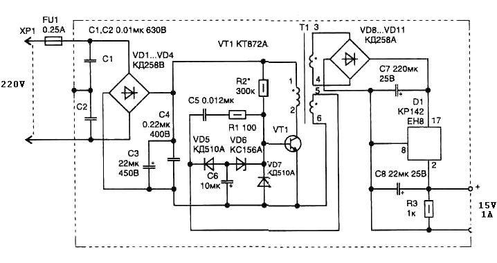 tv switching power supply schematic
