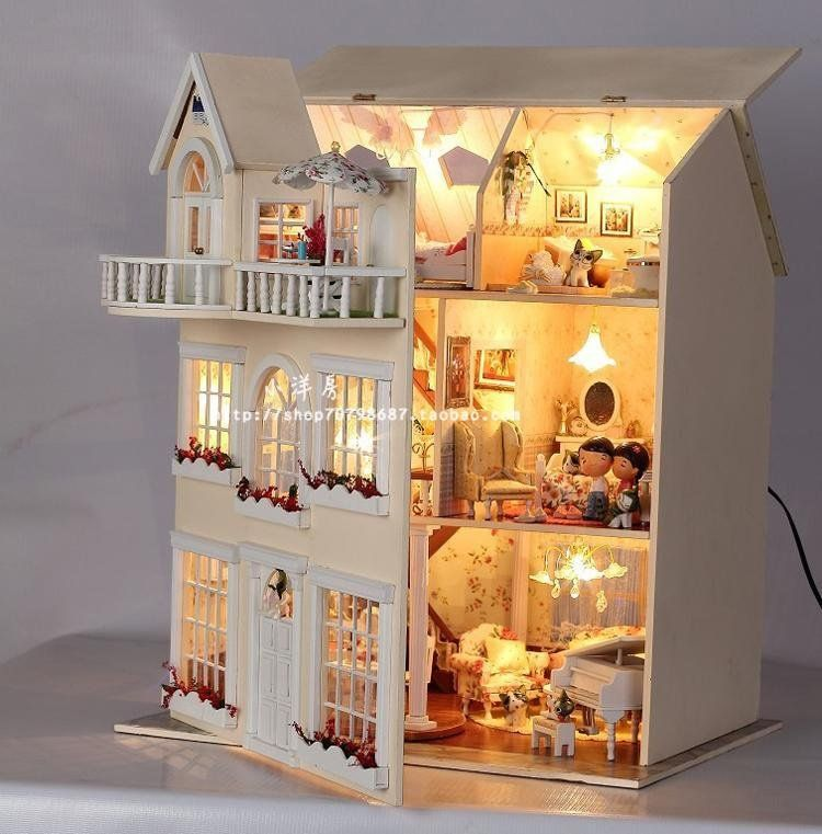 charming diy wooden dollhouse contemporary best ideas exterior - Wooden Dollhouses Designs
