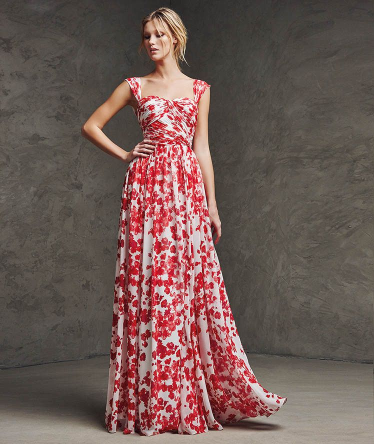 Vestido de gasa de fiesta | moda | Pinterest | Vestido de gasa, Gasa ...
