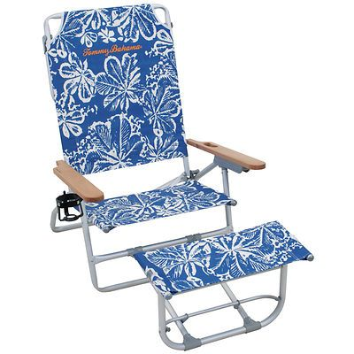 Nice Tommy Bahama Oversized Aluminum Beach Chair With Footrest   Blue Floral