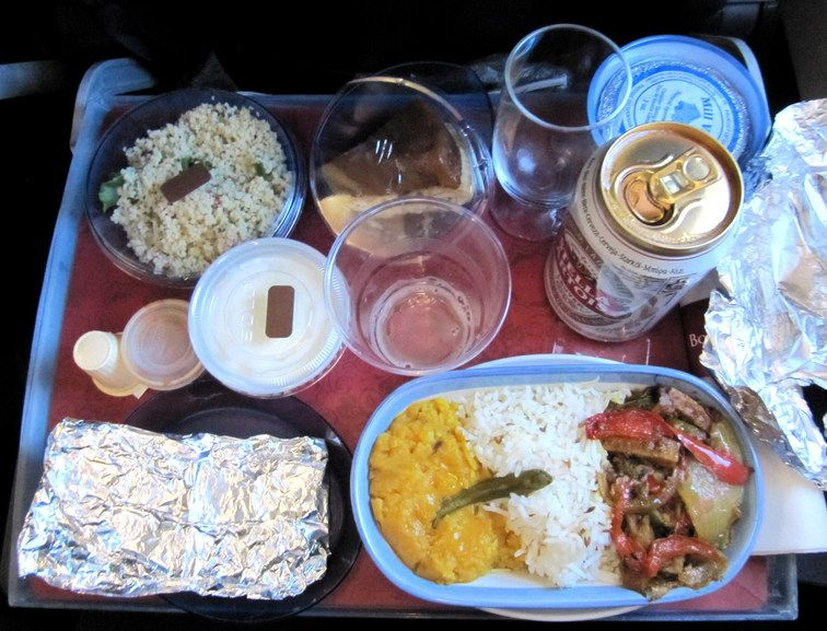 #inflightveggie Submitted by @ishtar_ 23: Kanada - dhania :)