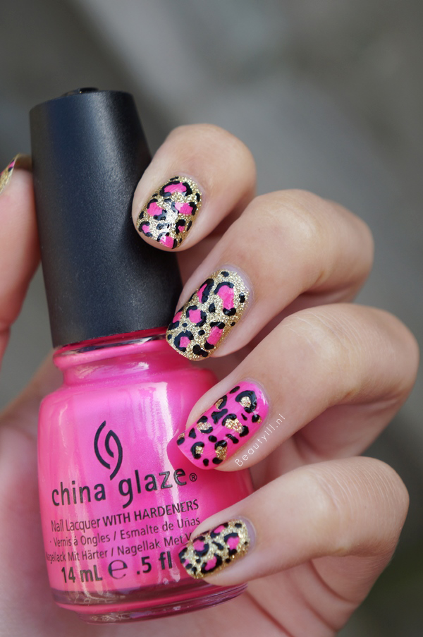 Diy Nail Art Leopard Nails Pink Kitty Kitty Beautyill