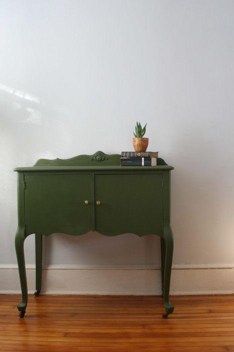 pretty green sideboard | green vintage furniture | pinterest | grün