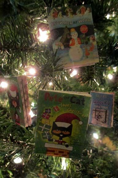 mini book christmas ornament