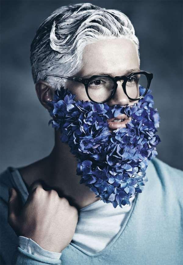 The 'Blue Beards' Manuscript Editorial is in Full Bloom #weddings trendhunter.com
