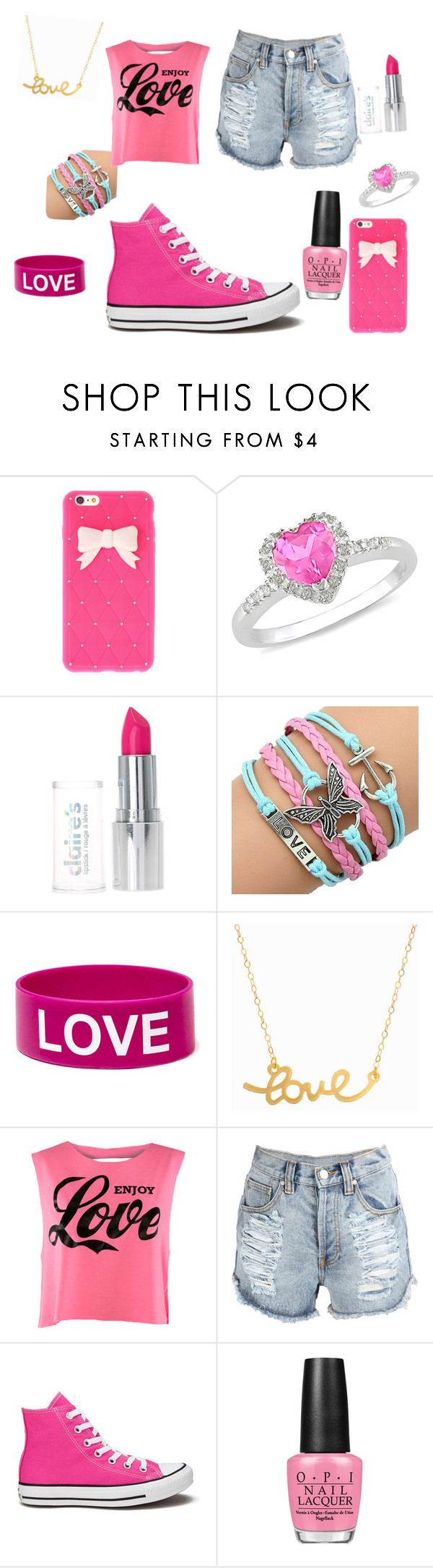 """""""Daughter Of Aphrodite"""" by mayal-2 ❤ liked on Polyvore featuring Ice, Minnie Grace, Converse and OPI"""