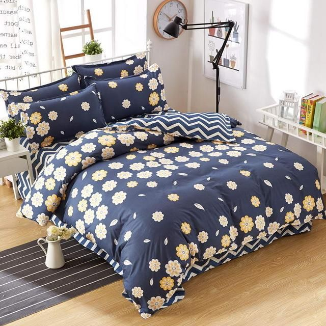 Autumn And Winter Bedding Sets Cover Flat Sheet Duvet Cover Bed Set Lattice  Style Very Soft