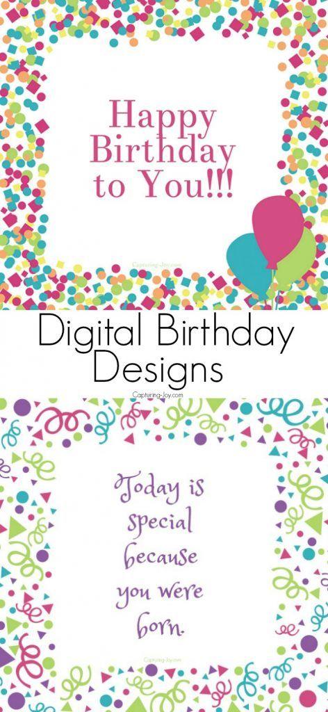 Digital Birthday Card Designs With Birthday Week Celebration Capturing Joy With Kristen Duke Digital Birthday Cards Birthday Card Design Birthday Cards