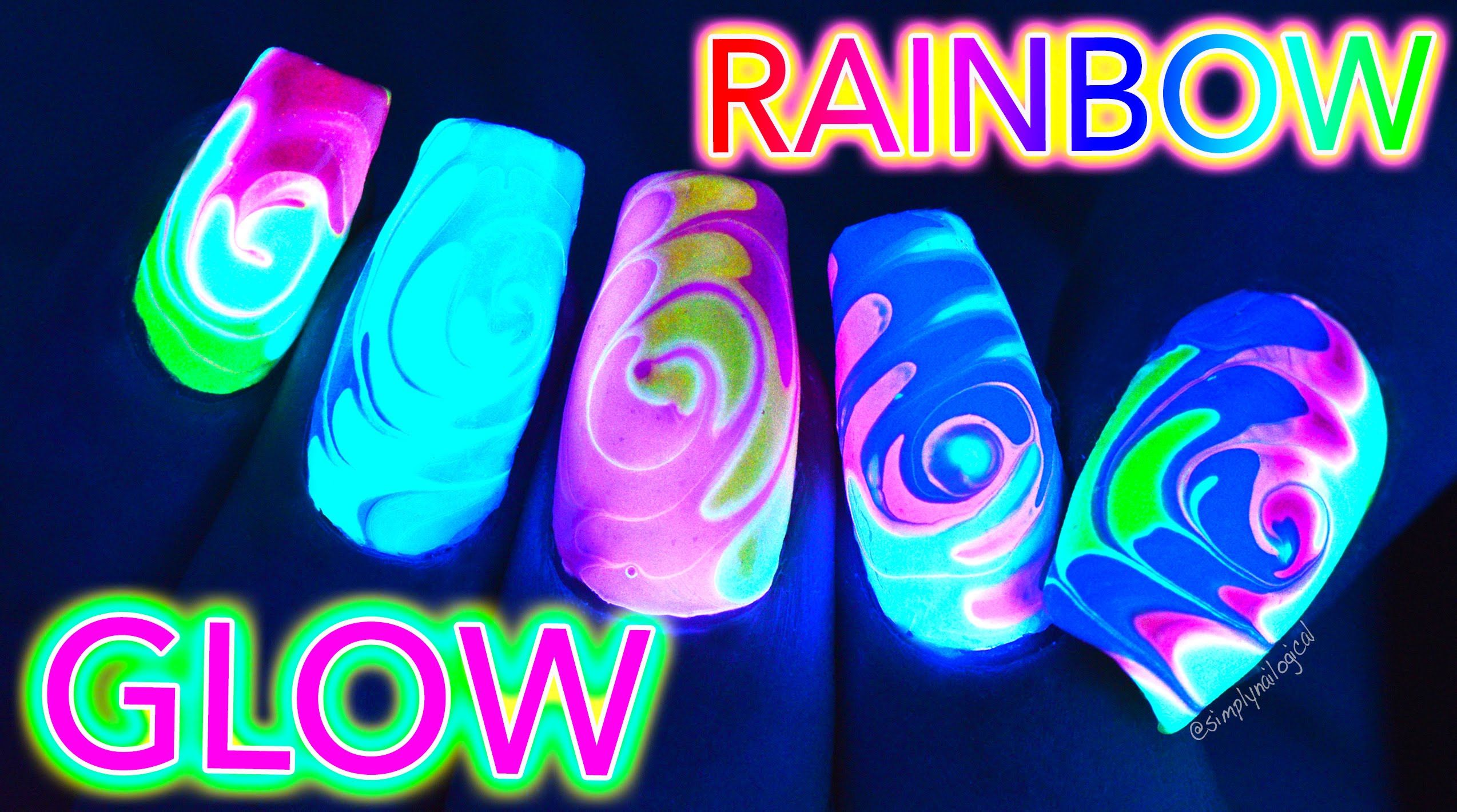 I PLAYED WITH MORE GLOW IN THE DARK NAIL POLISHES TO MAKE SOME FUN ...
