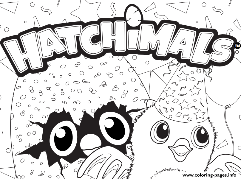 print hatchy hatchimals logo coloring pages  birthday
