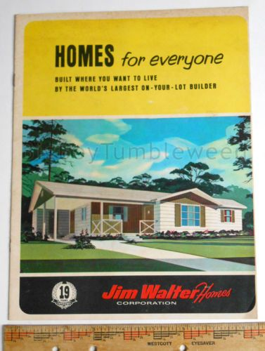 Vintage Brochure Print Jim Walter Homes Floor Plans Mid