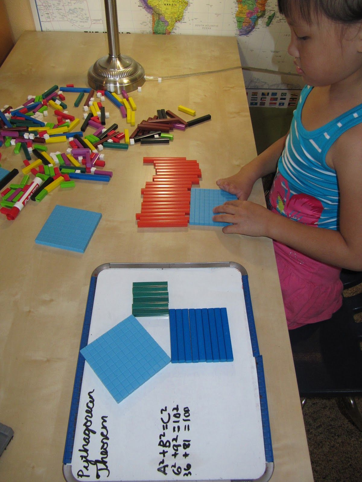 The Pythagorean Theorem Cuisenaire Rods