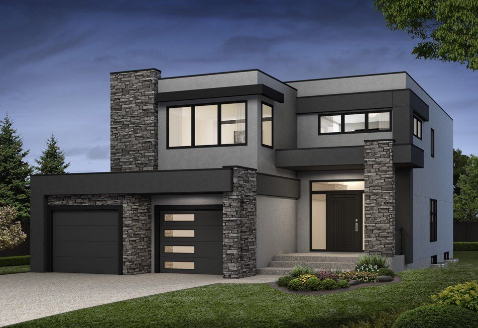 Navelli New Single Family Home In Greater Edmonton Modern Small House Design House Front Design House Designs Exterior