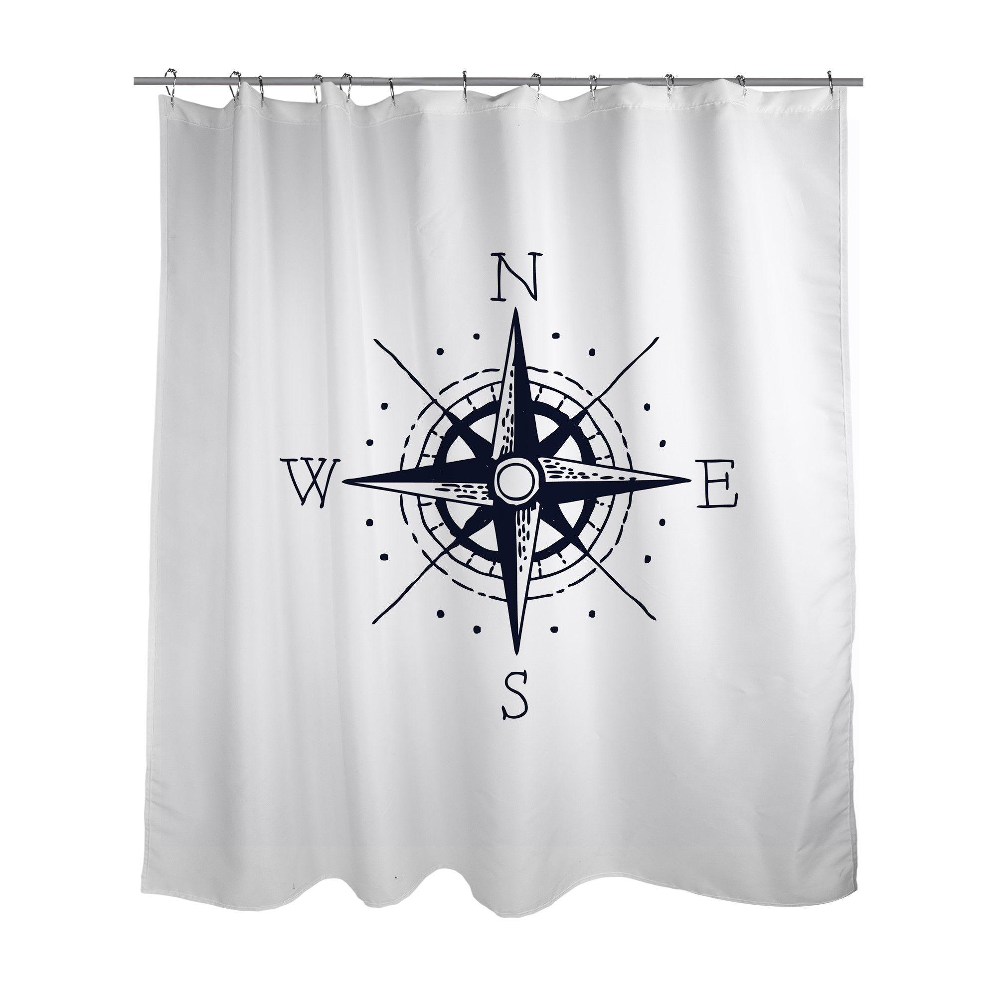 Nautical Compass Shower Curtain Nautical Shower Curtains