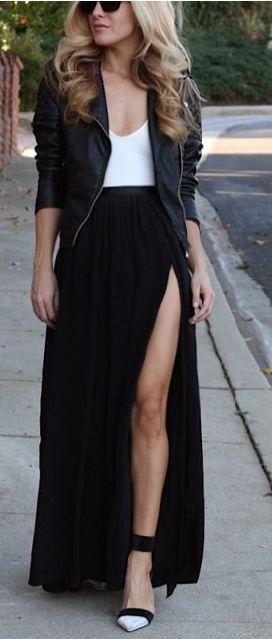 Outfits con faldas abiertas