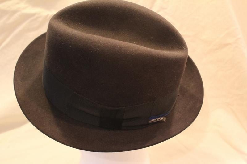 8ebccd6983b Vintage Disney Park Avenue Men s Black Fedora Dress Hat 7 1 4 by  AtticEsoterica on Etsy