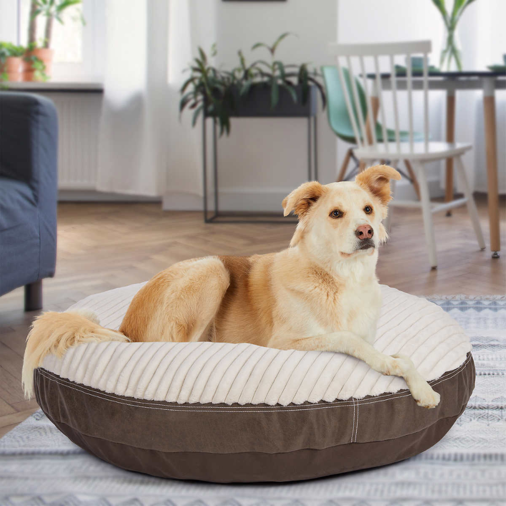 Pin By Sarah Stasio On Dogs Round Dog Bed Dog Bed King Bedroom Sets