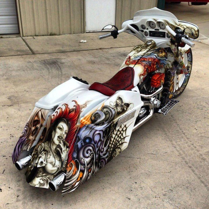 Awesome Paint Job With Images Bagger Motorcycle Custom Baggers