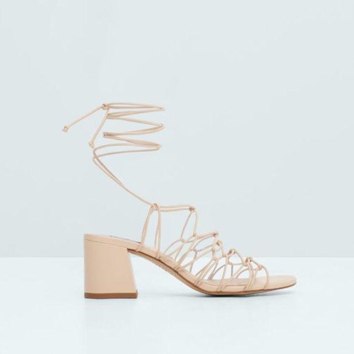 Sandals | Lace up sandals, Mango heels