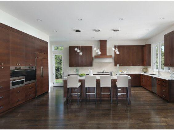 cuisine moderne couleur ch ne fonc deco maison pinterest cuisine moderne meuble cuisine. Black Bedroom Furniture Sets. Home Design Ideas