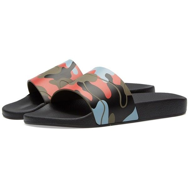 4bc5ccd196fd9 Valentino Camo Slide (€215) ❤ liked on Polyvore featuring men's fashion,  men's shoes, men's sandals and mens camo shoes