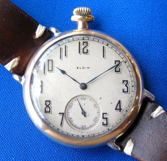 1922 Elgin Trench Watch Wristwatch By Neighborhoodwatchco On Etsy 550 00 Cool Watches Fashion Watches High Jewelry