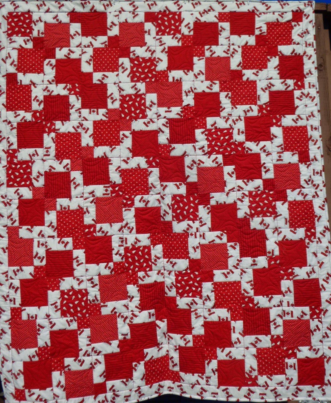Canadian Flag Quilt # 1 (Linda's Quiltmania) | Flag quilt and Flags : canadian flag quilt - Adamdwight.com