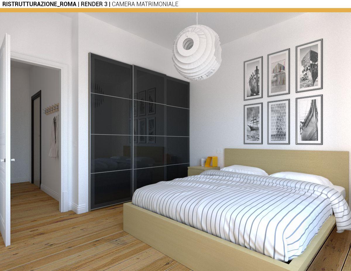 Ristrutturazione appartamento Roma Camera da letto