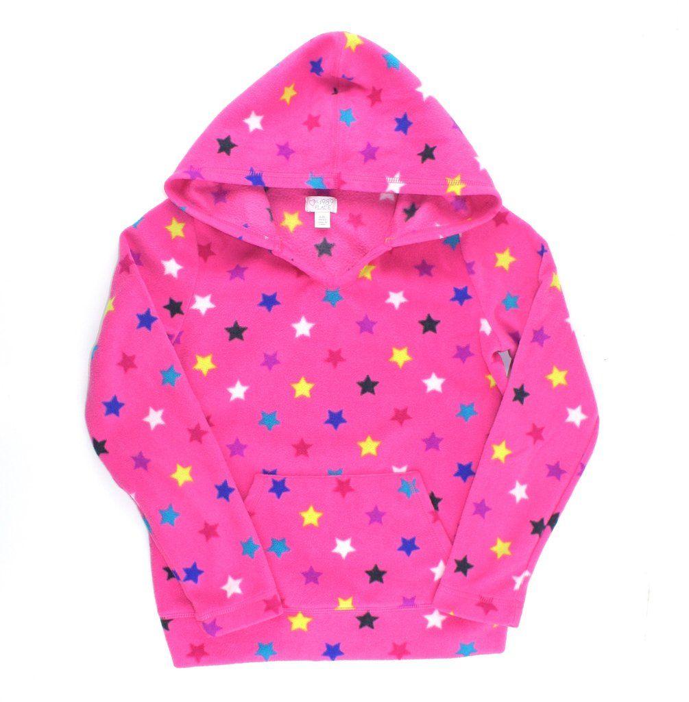 Children's Place hoodie, fleece hoodie, fleece sweater, sweater with stars