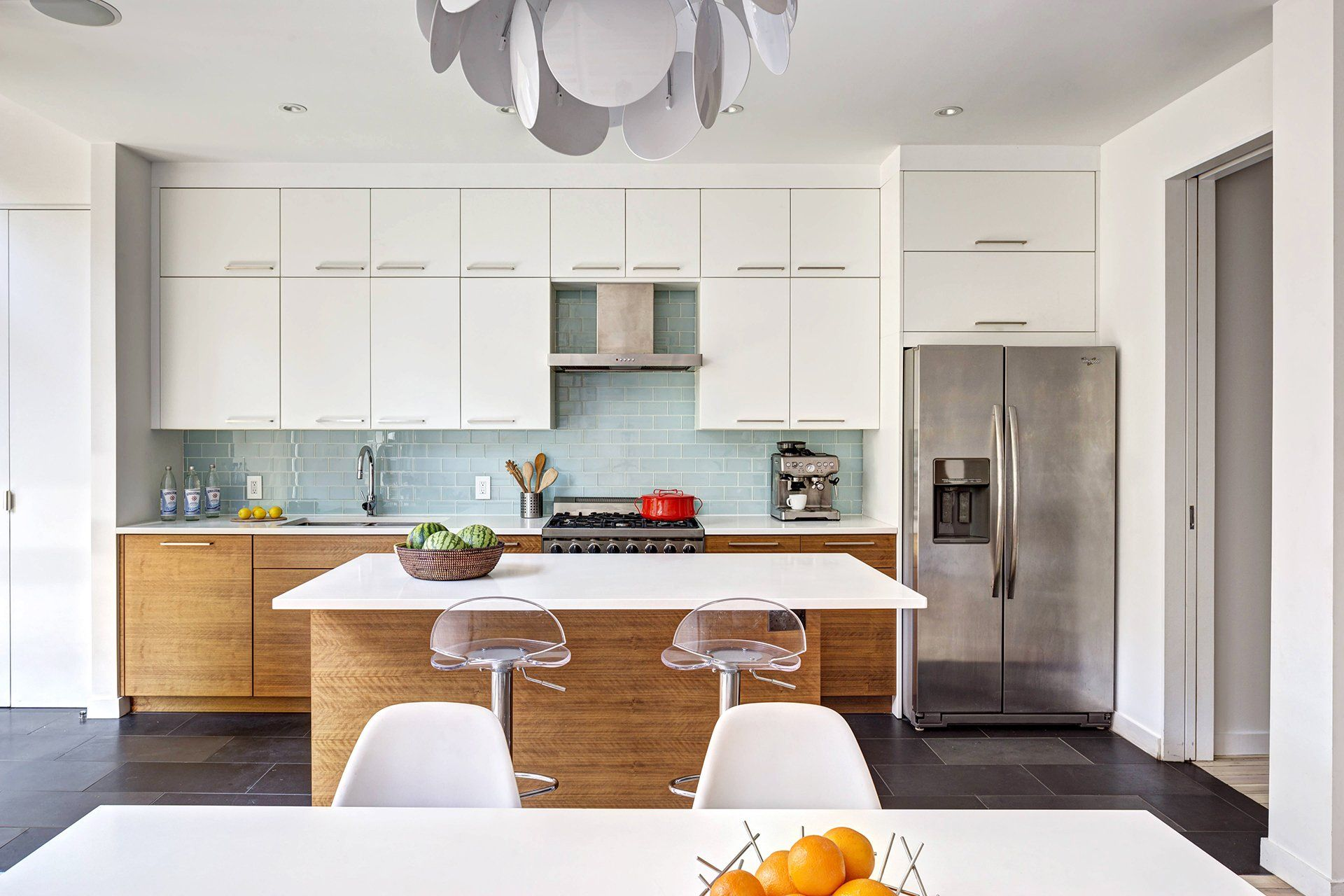 Two-toned cabinets by Semihandmade for IKEA Kitchens #ikea