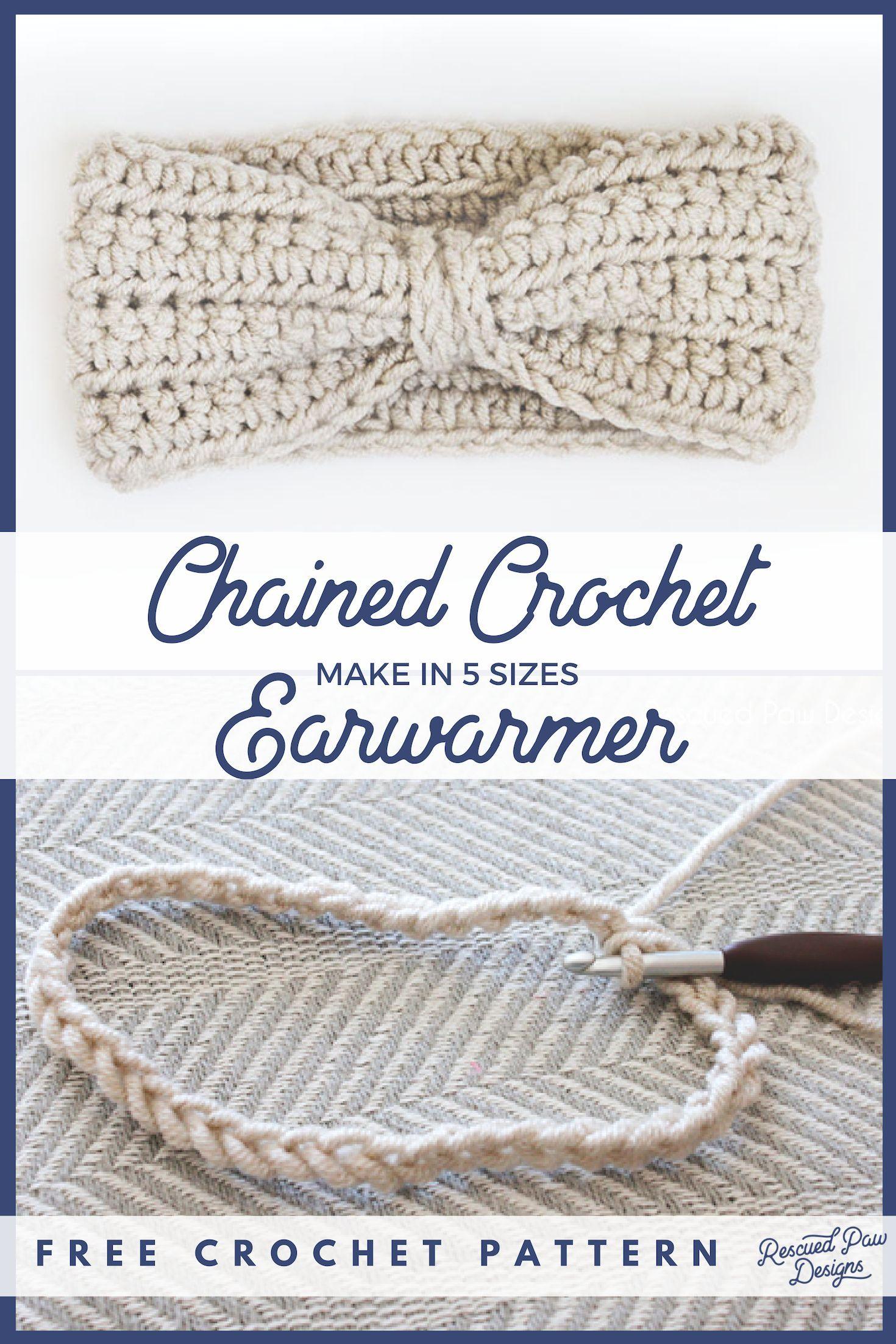 Crochet Ear Warmer Pattern - Free Ear Warmer Headband Pattern - Stricken ist so ...