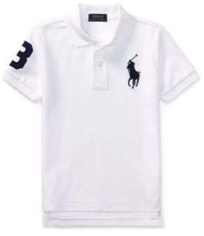 Ralph Lauren Cotton Mesh Polo Shirt White 4T