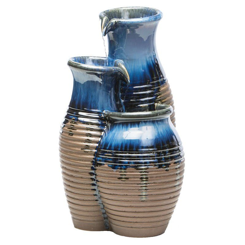Alfresco Home Canaan Jars Ceramic Fountain with Pump - 74-1329