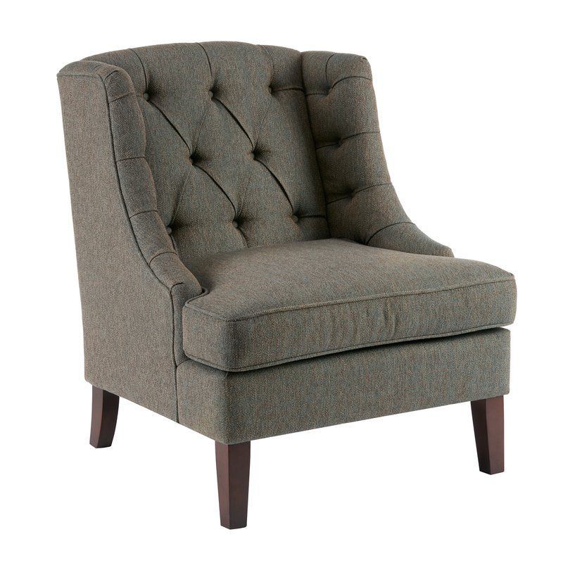 Best Hodgson Wingback Chair Tufted Accent Chair Accent 400 x 300