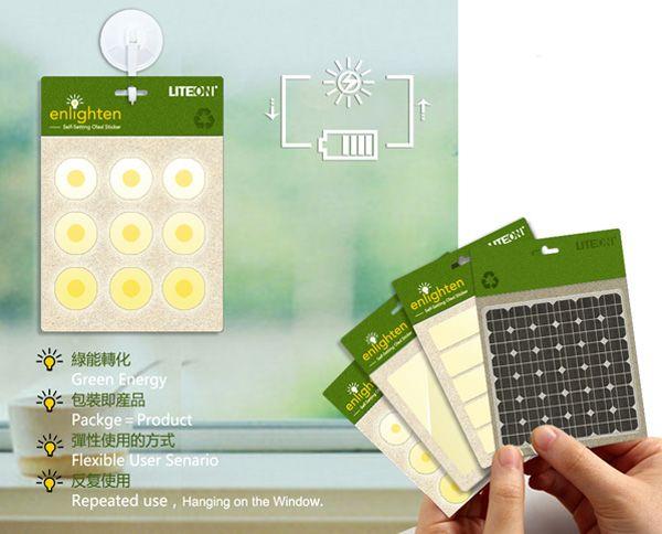 Necesitamos iluminación en todas partes. Enlighten Self-setting OLED Sticker por Si-Qian He and Ding He