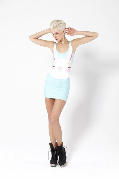 Not Impressed Bunny Dress - LIMITED | Black Milk Clothing L - BNWOT $80
