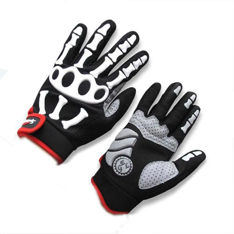Cycling Bicycle BMX Motocross Skull Skeleton Riding SPAKCT Full Finger Gloves