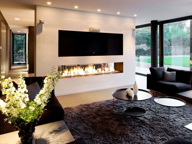 Gashaard als room devider tussen woonkamer en eetkamer. | Furnished ...