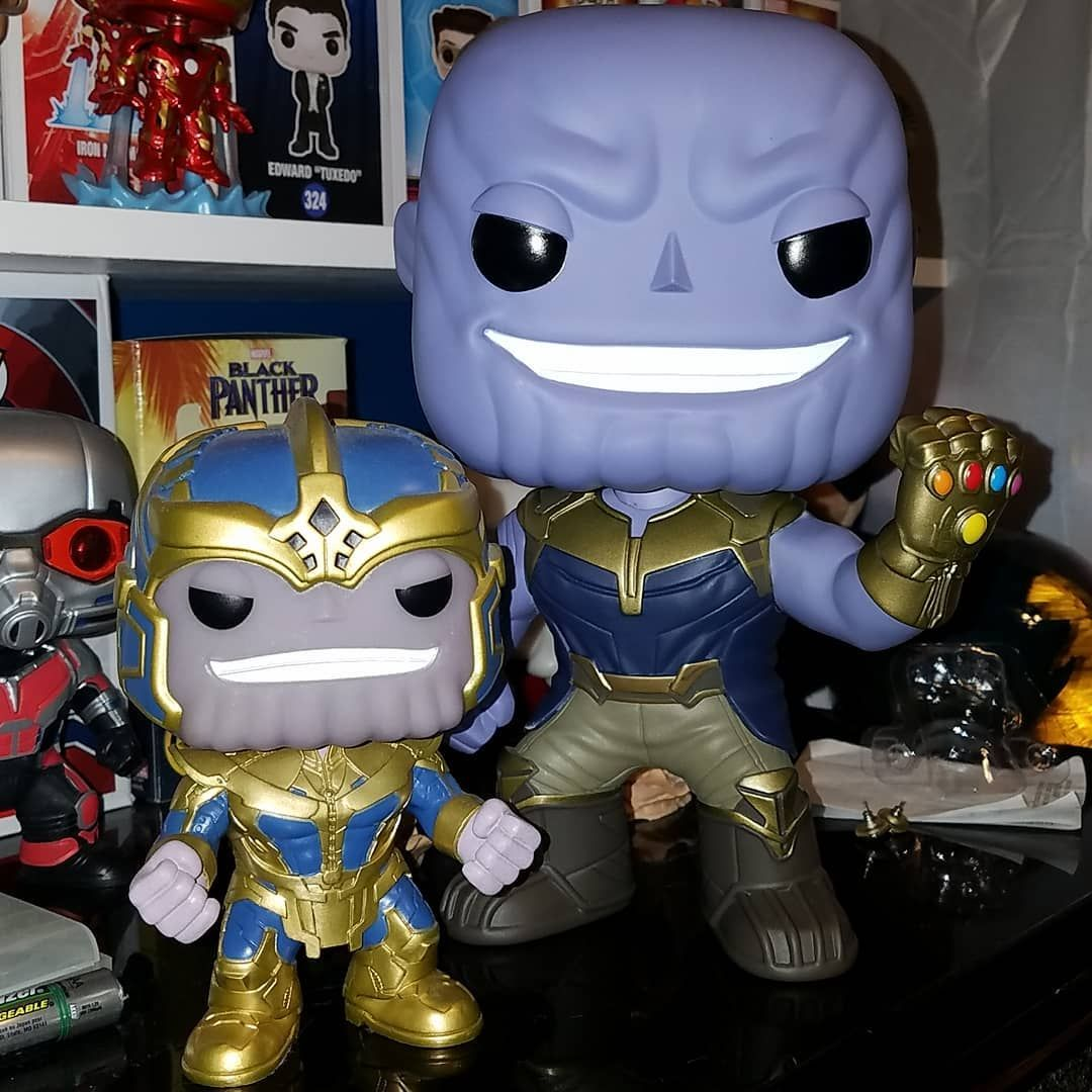 Got My 10inch Thanos Today Big Difference Between Him And The Entertainment Earth Exclusive Funko Funkopop Funkopops Thanos Funk Pop Vinyl Funko Funko Pop