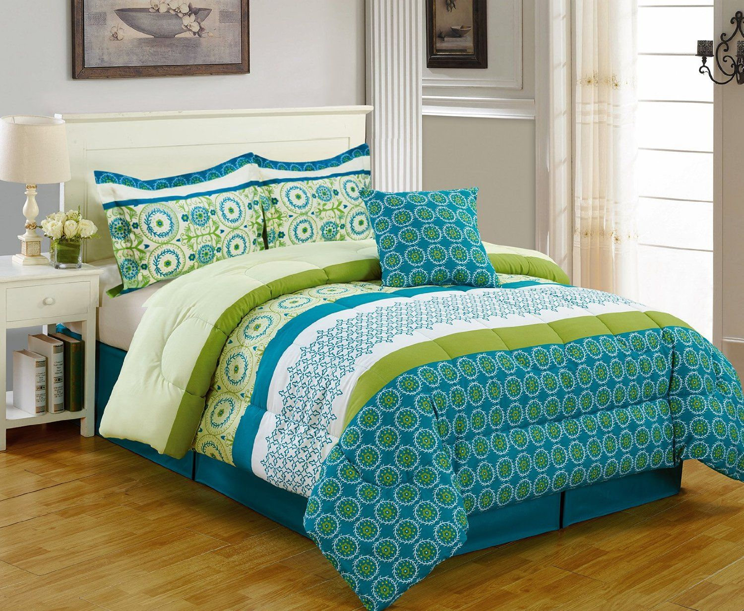 Multi Floral Comforters Comforter sets, Turquoise