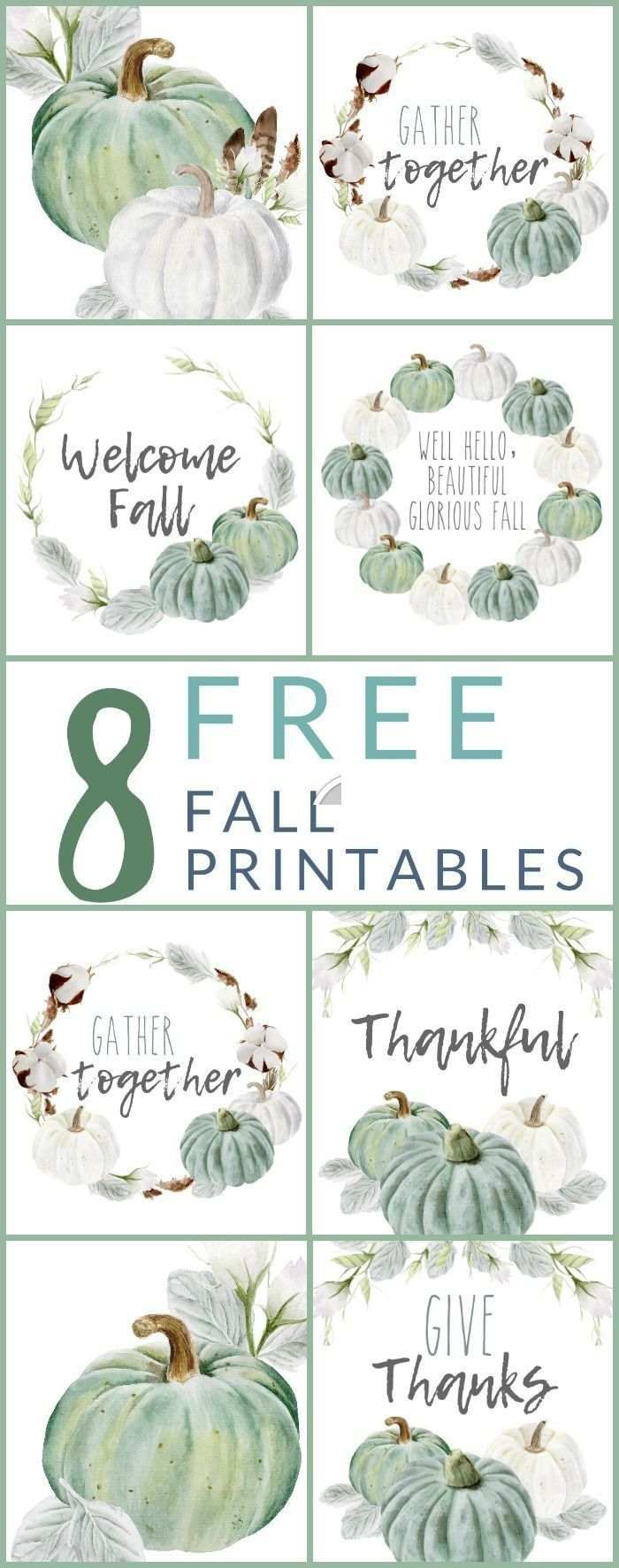 8 FREE Neutral Farmhouse Style Fall Printables Download
