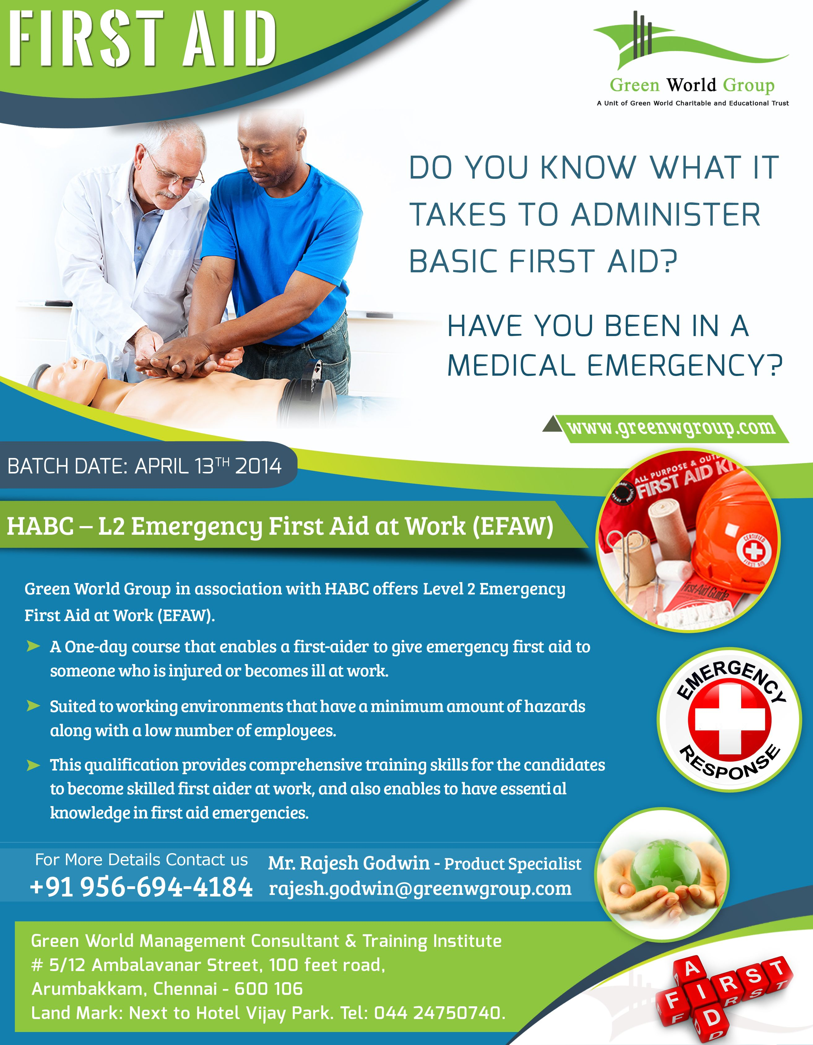 Pin By Green World Group On First Aid Course In Chennai