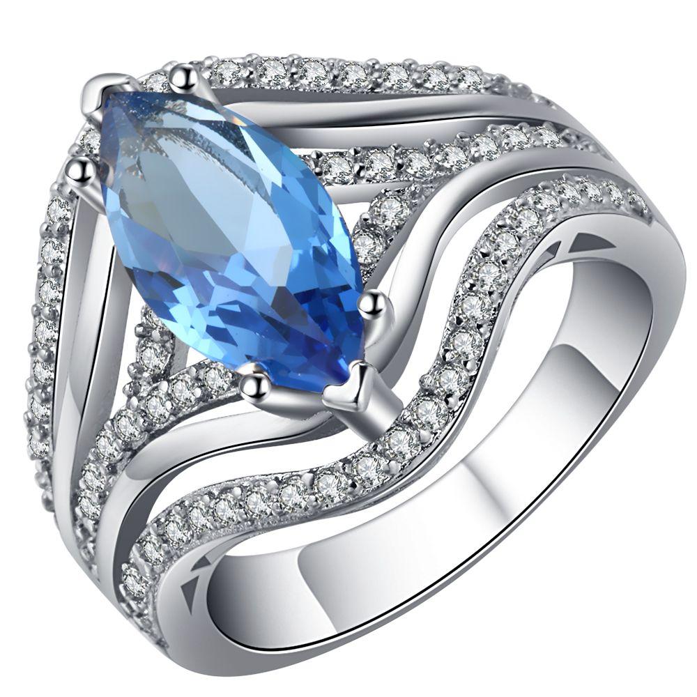 Classic silvercolor wedding ring ufooro brand 3 color